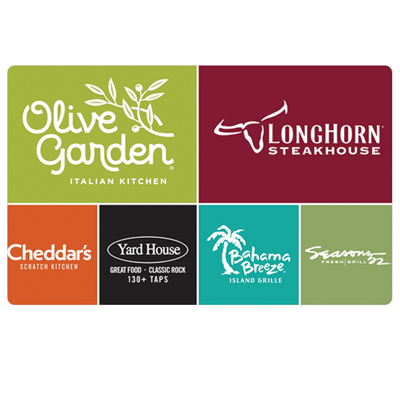 OLIVE GARDEN<sup>&reg;</sup> $25 Gift Card - Enjoy authentic Italian cuisine!  This gift card is worth $25 at any Olive Garden restaurant.