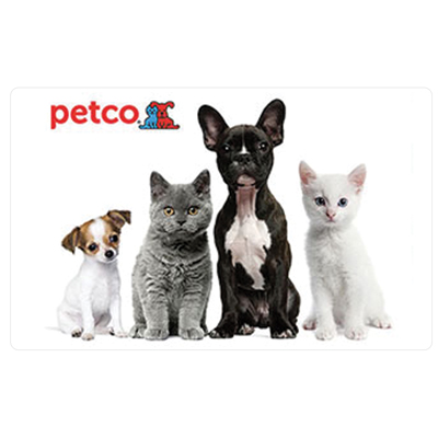 PETCO<sup>®</sup> $25 Gift Card - Get all of your pet care needs online or in stores at PetCo with this $25 gift card.