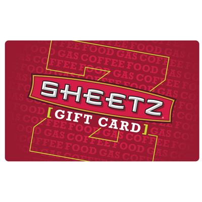 SHEETZ Z-CARD® $25 Gift Card - Redeem your Z-Card for gasoline, food from our M•T•O® menu or any self-serve or specialty Sheetz Bros. Coffeez® beverages.